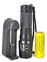 Eclairage Lampes Torches LED LED 5000 Lumens 1 Mode Cree XM-L T6 18650 Intensité Réglable Faisceau AjustableCamping/Randonnée/Spéléologie