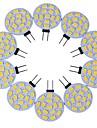 10шт g4 15led smd5730 3w 200-300lm теплый белый / белый декоративный dc12v светодиодный двухконтактный свет