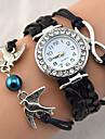 Женские Модные часы Наручные часы Часы-браслет Стразы Имитация Алмазный Кварцевый PU ГруппаВинтаж Блестящие Heart Shape Богемные Жемчуг