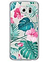 Watercolor Flowers Pattern Soft Ultra-thin TPU Back Cover For Samsung GalaxyS7 edge/S7/S6 edge/S6 edge plus/S6/S5/S4