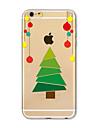 Pour Coque iPhone 7 Coques iPhone 7 Plus Coque iPhone 6 Translucide Motif Coque Coque Arrière Coque Noël Flexible PUT pour AppleiPhone 7