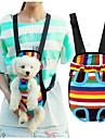 Кошка Собака Переезд и перевозные рюкзаки передняя Рюкзак Животные Корзины В полоску Компактность Дышащий полоса Цвет-леопард