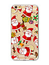 용 아이폰7케이스 / 아이폰6케이스 / 아이폰5케이스 반투명 / 패턴 케이스 뒷면 커버 케이스 크리스마스 소프트 TPU Apple아이폰 7 플러스 / 아이폰 (7) / iPhone 6s Plus/6 Plus / iPhone 6s/6 /