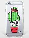 Pour Coque iPhone 7 Coque iPhone 6 Coque iPhone 5 Motif Coque Coque Arrière Coque Fleur Flexible PUT pour AppleiPhone 7 Plus iPhone 7