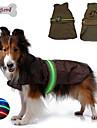Собаки Дождевик Жилет Одежда для собак Водонепроницаемый LED Однотонный Черный Коричневый Синий