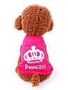 Cat Dog Shirt / T-Shirt Dog Clothes Summer Spring/Fall Tiaras & Crowns Casual/Daily Rose