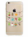Para Capinha iPhone 7 / Capinha iPhone 6 / Capinha iPhone 5 Ultra-Fina / Estampada Capinha Capa Traseira Capinha Natal Macia TPU Apple