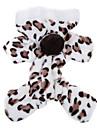 Коты Собаки Толстовки Комбинезоны Пижамы Коричневый Розовый Одежда для собак Зима Весна/осень Матовый черный Милые На каждый день