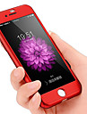 360 градусов жесткий ПК защитный полный защитный чехол для iphone 7 7plus 6s 6plus 5s se 5 с закаленной стеклянной пленкой
