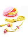 3,5 milímetros de qualidade superior fone de ouvido macaron presente de aniversário do fone de ouvido fones de ouvido