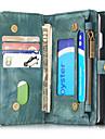 용 지갑 / 카드 홀더 / 충격방지 / 플립 케이스 풀 바디 케이스 단색 하드 천연 가죽 용 Apple 아이폰 7 플러스 / 아이폰 (7) / iPhone 6s Plus/6 Plus / iPhone 6s/6