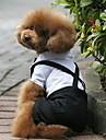 Dog Costume Tuxedo Black Dog Clothes Winter Spring/Fall Color Block Wedding Cosplay