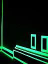decoração decalque verde fluorescente etiqueta noite tira de fita luminosa para a porta da escada motocicleta carro fita luminosa
