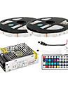 z®zdm 2 × 5m 150x5050 rgb smd conduit de lumière de bande et télécommande 44clé (AC110-240V)