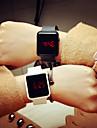 남성 아가씨들 스포츠 시계 디지털 LED 실리콘 밴드 캐쥬얼 블랙 화이트 레드 퍼플 카키 아이보리 오렌지 다크 블루 퓨샤 레드 그린