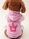 Коты / Собаки Толстовки Розовый Одежда для собак Весна/осень Тиары и короны Мода