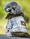 Собаки Плащи Джинсовые куртки Одежда для собак ковбой Мода Сохраняет тепло Джинсы Черный Синий
