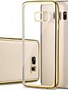 Pour Samsung Galaxy S7 Edge Plaqué Transparente Coque Coque Arrière Coque Couleur Pleine PUT pour Samsung S7 edge S7 S6 edge S6