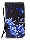 용 케이스 커버 지갑 카드 홀더 스탠드 뒷면 커버 케이스 꽃장식 하드 인조 가죽 용 Samsung S8 S8 Plus S7 edge S7 S6 edge S6 S5 Mini S5 S4 Mini S4 S3 Mini S3