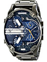 Men's Sport Watch Military Watch Dress Watch Wrist watch Bracelet Watch Calendar Dual Time Zones Punk Quartz Alloy BandVintage Cool