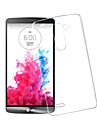 For LG Case Transparent Case Back Cover Case Solid Color Hard PC LG