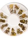 60PCS Golden Soft Metal Nail Art Decorations Kits
