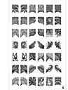 Тарелки с изображениями узоров для нейл арта, 42 узора