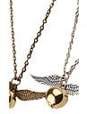 Ожерелье Ожерелья с подвесками Бижутерия Свадьба / Для вечеринок / Повседневные Мода Сплав Золотой 1шт Подарок