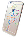 For iPhone 6 Case / iPhone 6 Plus Case Transparent / Pattern Case Back Cover Case Heart Soft TPU iPhone 6s Plus/6 Plus / iPhone 6s/6