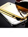 Para Samsung Galaxy Capinhas Espelho Capinha Capa Traseira Capinha Cor Única PC Samsung S6 edge / S6 / S5 / S4 / S3