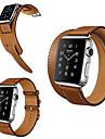 애플 시계 용 시계 밴드 38mm 42mm 가죽 교체 용 손목 밴드 더블 투어