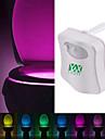 ywxlight® 8 couleurs mouvement toilettes activé lumière de nuit adapter à toute salle de bains nuit résistant à la lumière des toilettes à