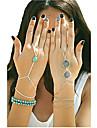 Bracelet Charmes pour Bracelets Bracelets Bagues Alliage Turquoise Autres Original Mode Soirée Quotidien Décontracté Bijoux CadeauDoré
