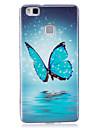 Pour Phosphorescent / IMD / Motif Coque Coque Arrière Coque Papillon Flexible TPU pour Huawei Huawei P9 Lite / Huawei P8 Lite