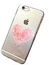rosa corações padrão TPU transparente macio escudo do telefone caso de volta caso capa para o iPhone 6s 6 mais