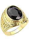 Men's Ring AAA Cubic Zirconia Luxury European 18K gold Alloy Jewelry For Casual