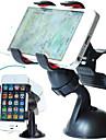 Fixation Support pour Téléphone Automatique Pare-brise Rotation 360° Plastique pour Téléphone portable