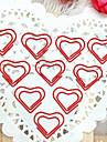 Сердце Pattern серебристого пластика, завернутый скрепки (10шт)