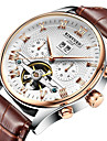 KINYUED Masculino Relógio Elegante Relógio Esqueleto Relógio de Pulso relógio mecânico Automático - da corda automáticamenteCalendário