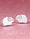 Boucles d'oreille goujon Le style mignon Plaqué argent Forme d'Animal Mouton Argent Bijoux Pour Soirée Halloween Quotidien Décontracté1