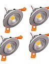 4pcs z®zdm 6w 400-500lm apoio cob dimmable levou luzes de teto luzes LED receseed (220v)