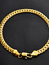 u7® высокое качество 18k коренастый золота заполнены витой Фигаро браслет ссылке цепи для мужчин и для женщин