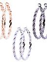 Earring Hoop Earrings Jewelry Women Daily Alloy 6pcs Gold / Black / Silver