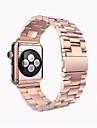 Bande de Montre pour Apple Watch 38mm Boucle en papillon en acier inoxydable 42mm