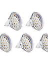 4W GU5.3(MR16) Точечное LED освещение MR16 15 SMD 2835 300 lm Тёплый белый DC 12 / AC 12 V 5 шт.