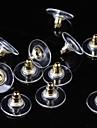 Застежка серег Бижутерия Базовый дизайн Регулируется Серебрянное покрытие Позолота Золотой Серебряный Бижутерия Для Повседневные1