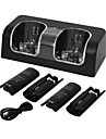 Charger Dock Station + 2 Battery Packs for Nintendo Wii Remote Controller
