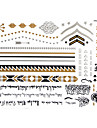 Séries de Jóias Tatuagem Adesiva - Estampado - para Feminino/Girl/Adulto/Adolescente - de Papel - Dourada - #(23x15) - #(Arabic text)-