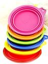 Cat Dog Bowls & Water Bottles Pet Bowls & Feeding Foldable Yellow Red Green Blue Blushing Pink