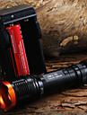 Светодиодные фонари Ручные фонарики LED 1800 Люмен 5 Режим Cree XM-L T6 18650 ФокусировкаПоходы/туризм/спелеология Повседневное